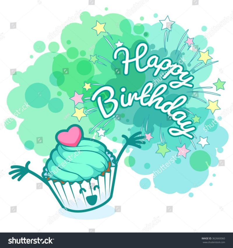 greeting card happy birthday very happy stock vektorgrafik