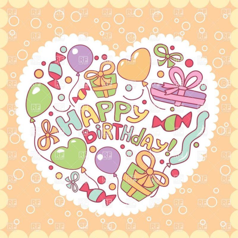 happy birthday card clipart free