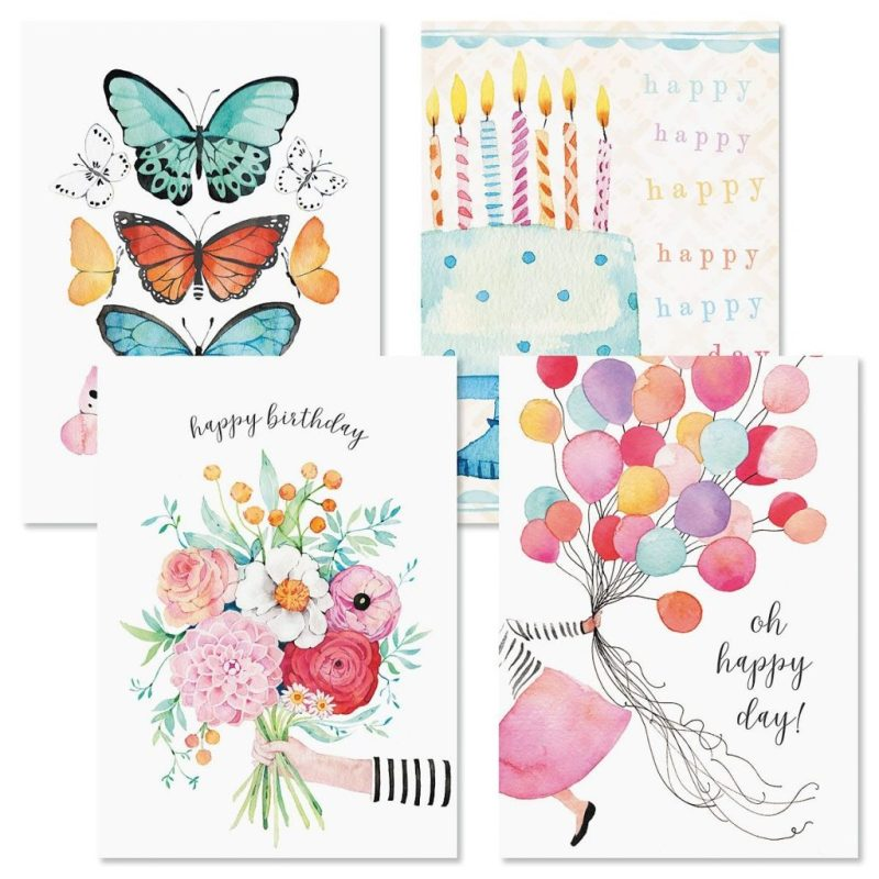 happy birthday cards and seals
