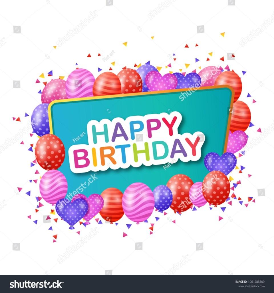 happy birthday cards unique background design stock