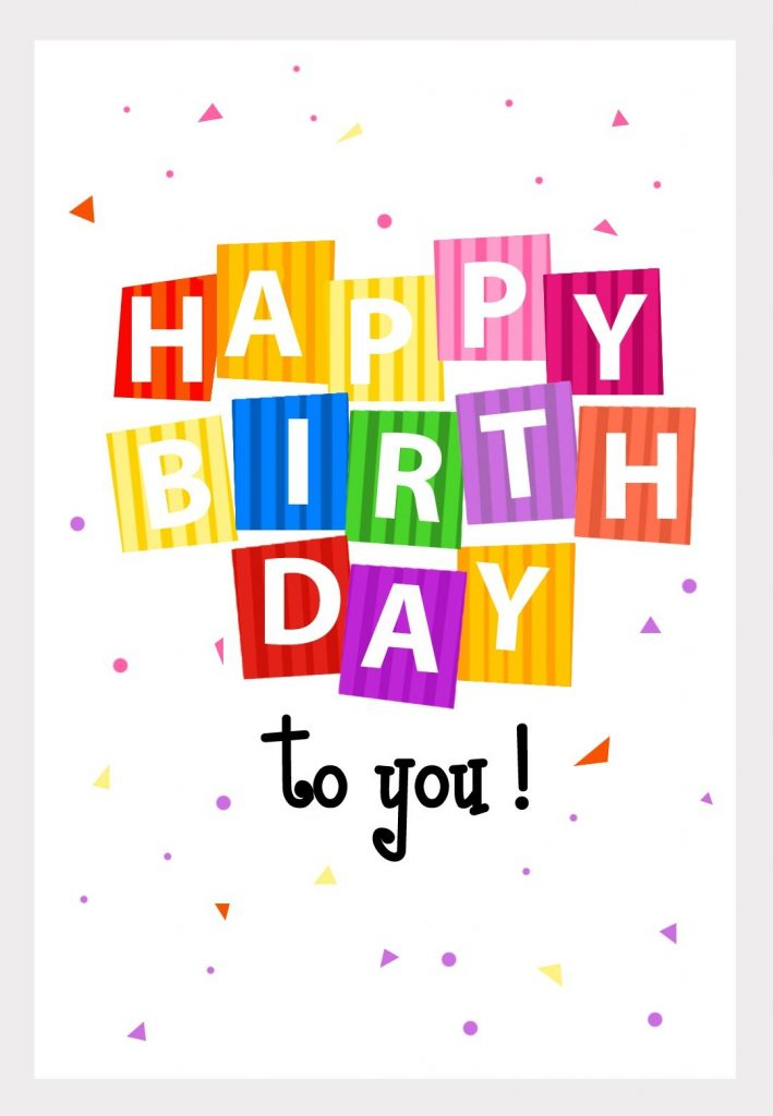 happy birthday from greetingsisland with images