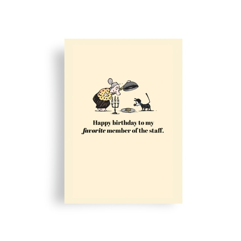 happy birthday greeting card from cat