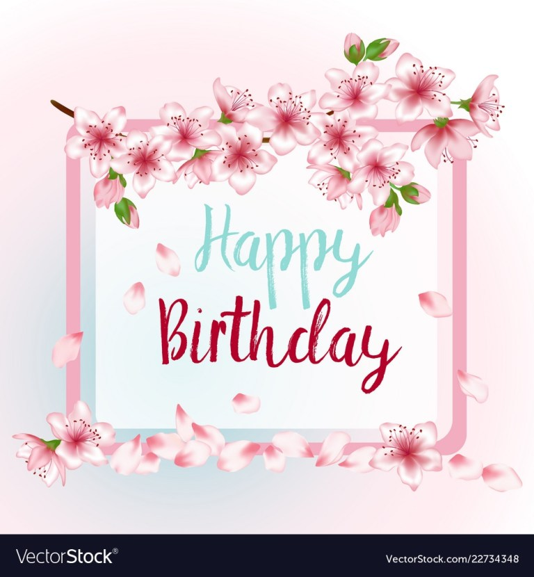 happy birthday greeting card template with