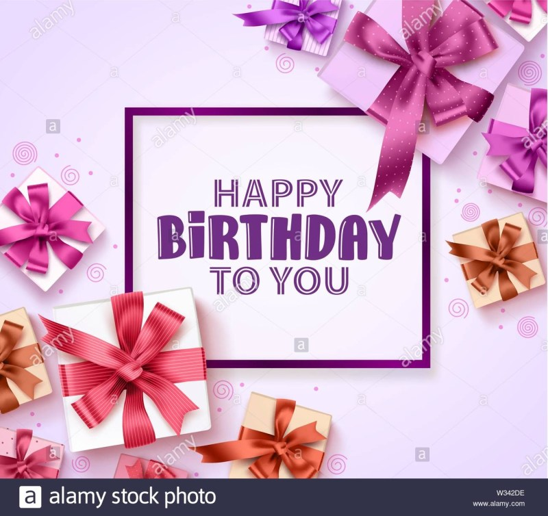 happy birthday greeting card vector design with colorful