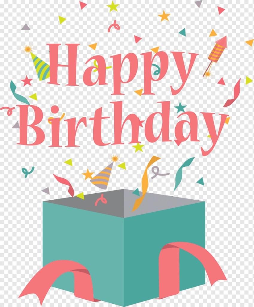 happy birthday logo birthday cake gift greeting card