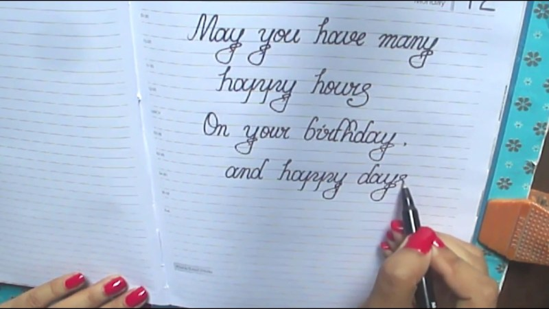 happy birthday message in cursivewhat to write on birthday card in cursivegood wishes in cursive