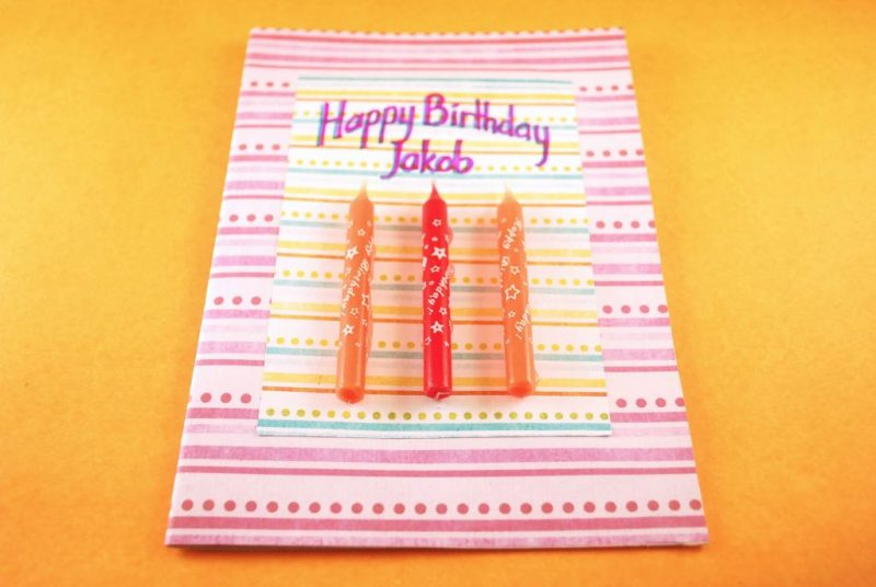homemade birthday cards for kids eight candle birthday card