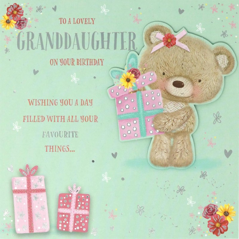 lovely granddaughter birthday card