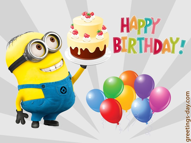 minion birthday ecard panera