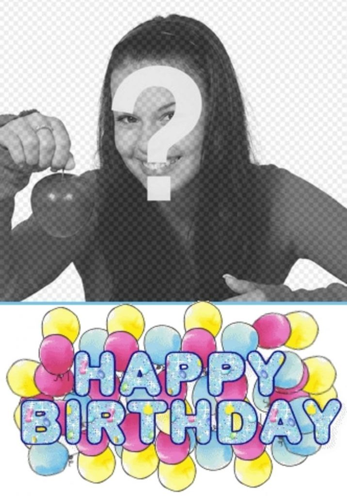 personalized birthday card with photo with an animated text