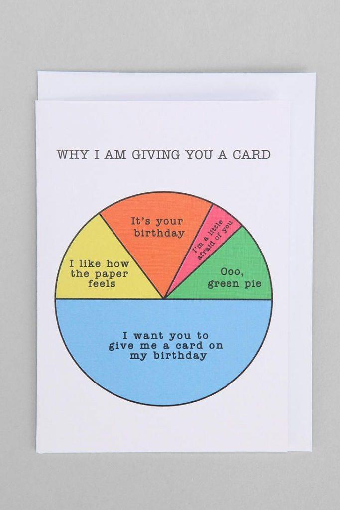 pie chart birthday card funny birthday cards