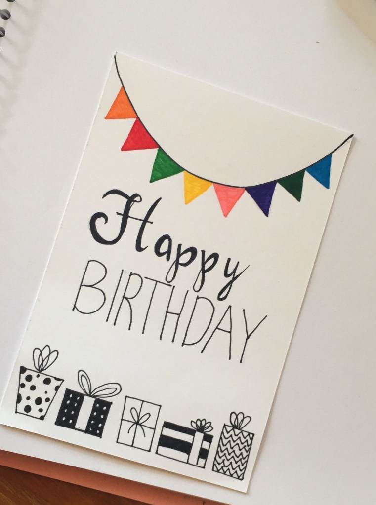 pin arch on bday cards birthday card drawing creative