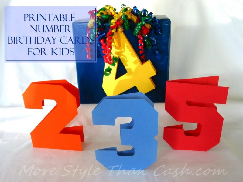 printable number birthday cards for kids
