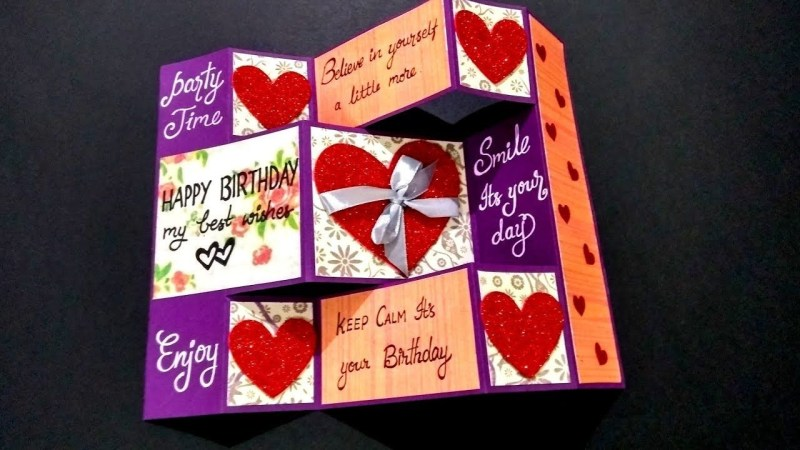 special birthday greeting card for boyfriend handmade