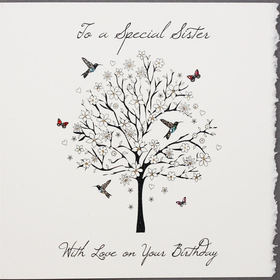 to a special sister handmade birthday card s42