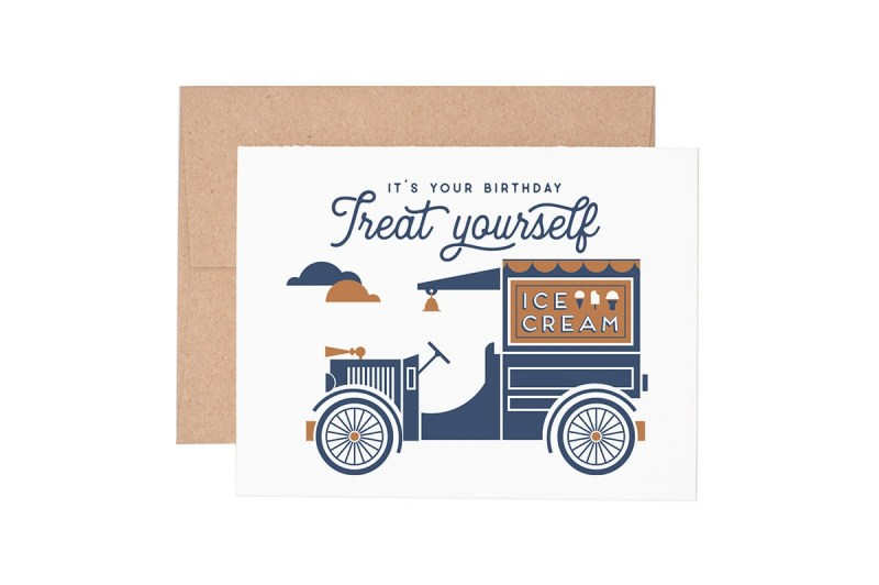 treat yourself birthday greeting card