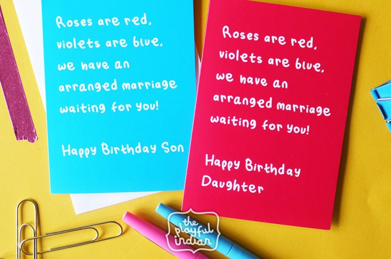 what to write in a birthday card the playful indian