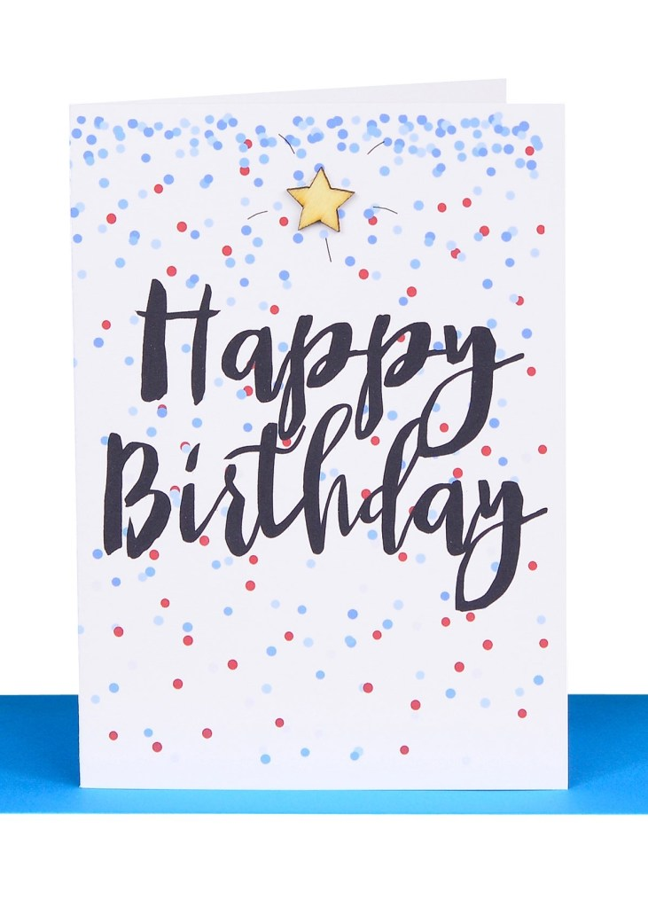 wholesale happy birthday gift card blue confetti bb32