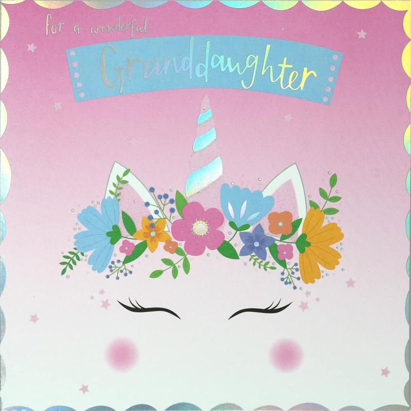 wonderful granddaughter birthday card
