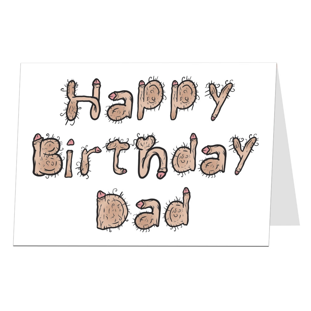 dad birthday card willy font