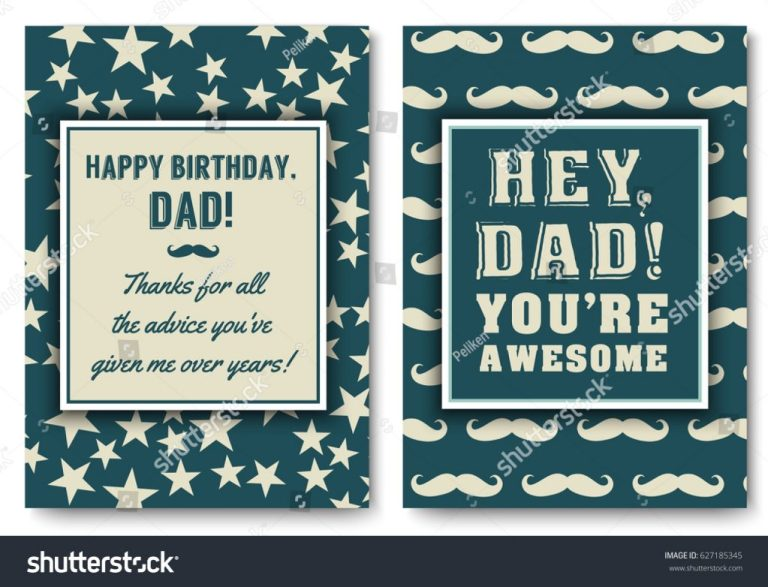 dad happy birthday card set love stock vektorgrafik