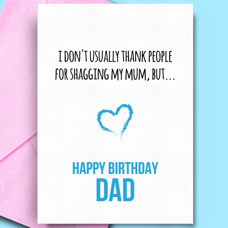 details about funny birthday cards for dad from daughter son rude humour happy bday cards