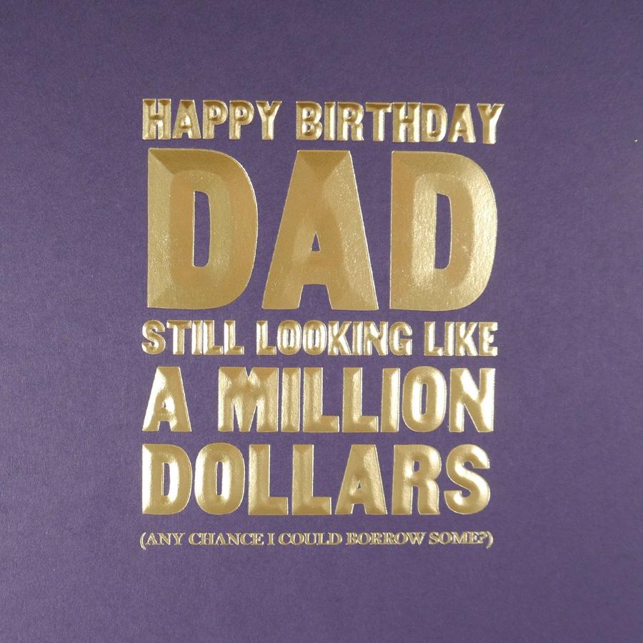 five dollar shake happy birthday dad card mn15