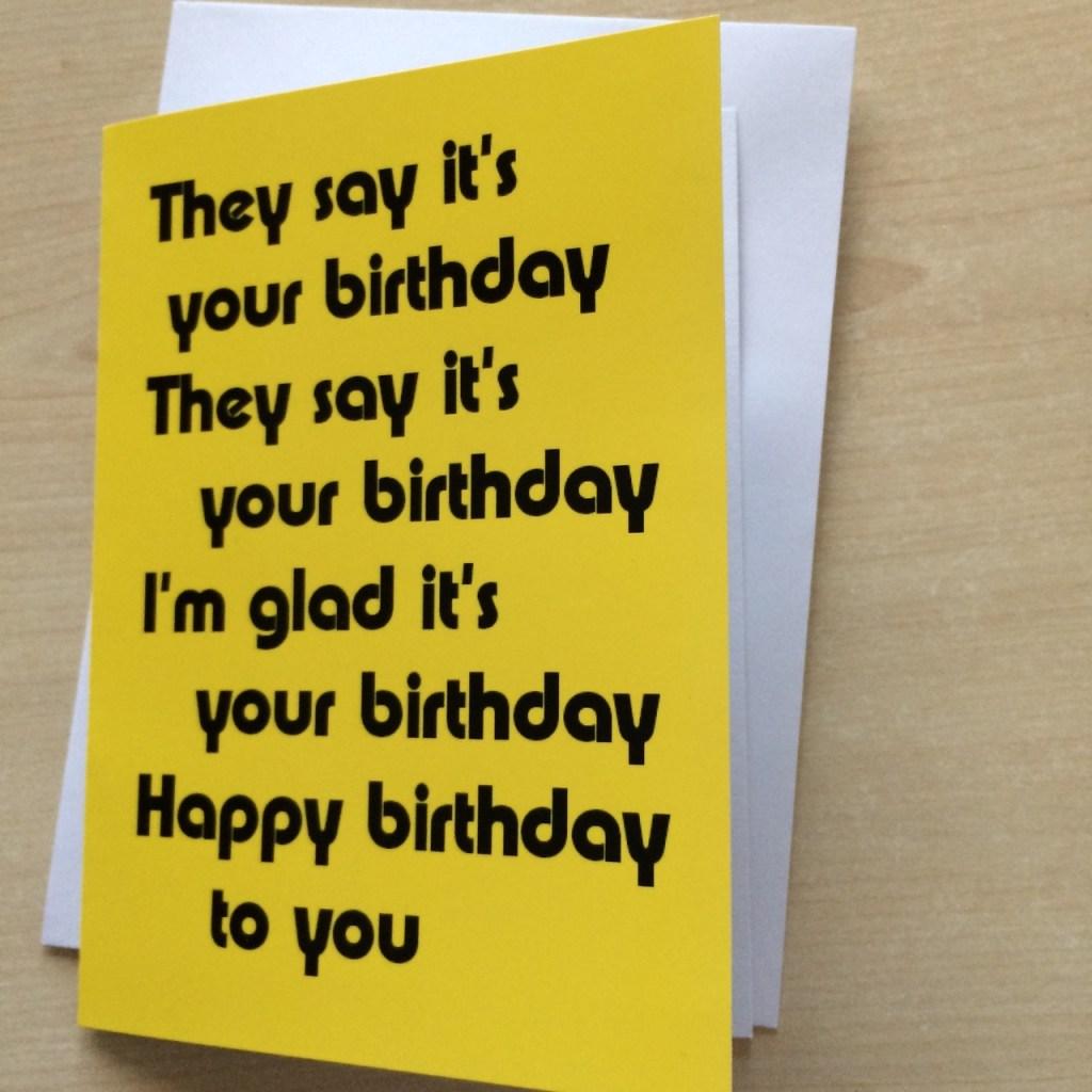 handmade birthday card beatles theme what better