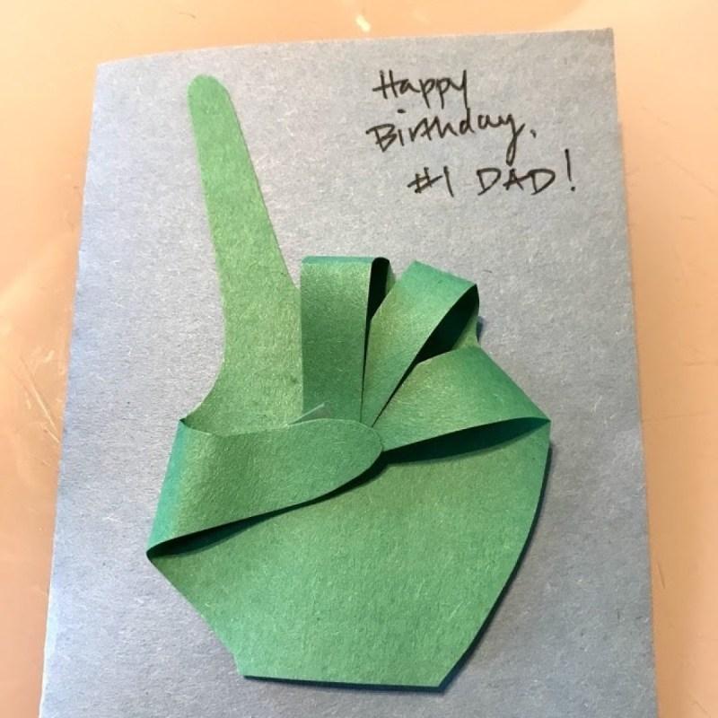 making a 1 dad birthday card thriftyfun