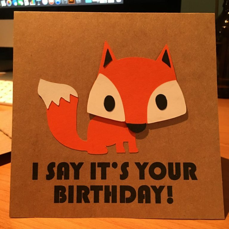 what does the fox say birthday card