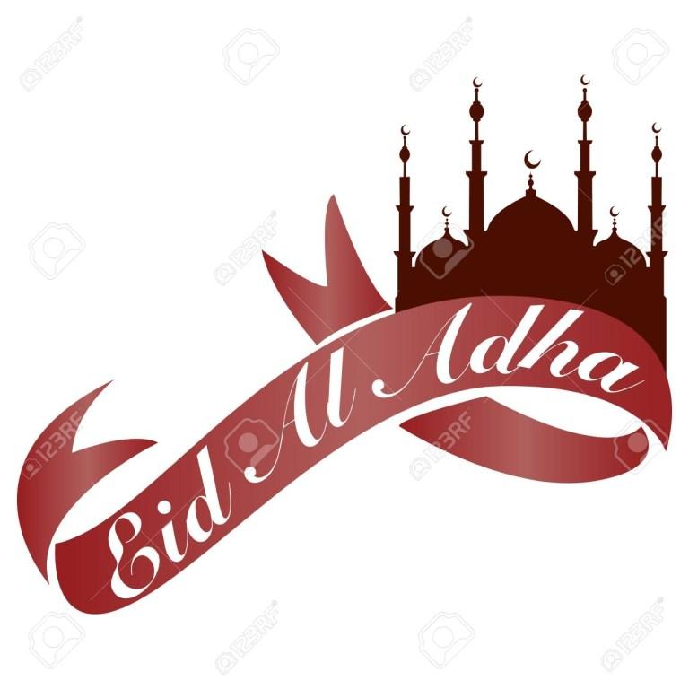 eid al adha banner white background