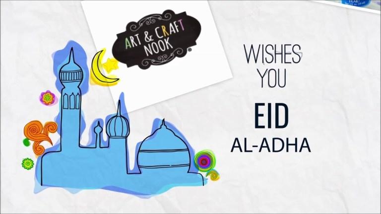 eid al adha greetings art craft