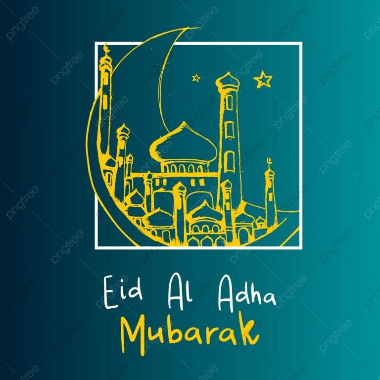 eid al adha mubarak banner background