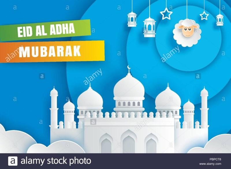 eid al adha mubarak celebration card