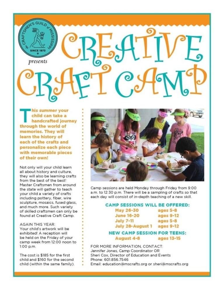 craft center kids art class camping