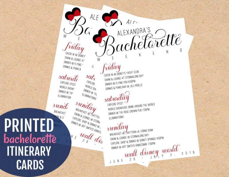 disney bachelorette party itinerary