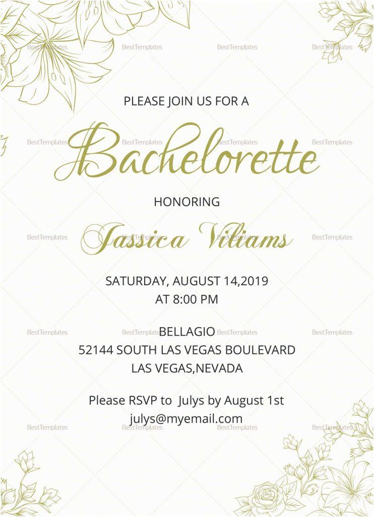 simple bachelorette invitation template