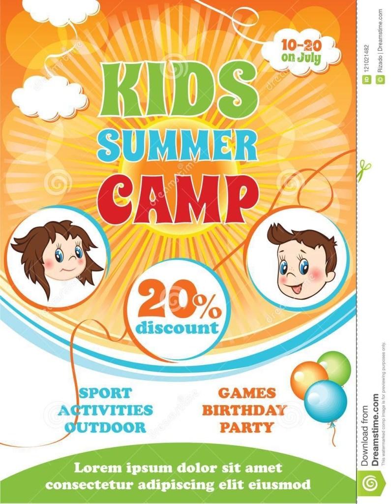 summer camp leaflet design