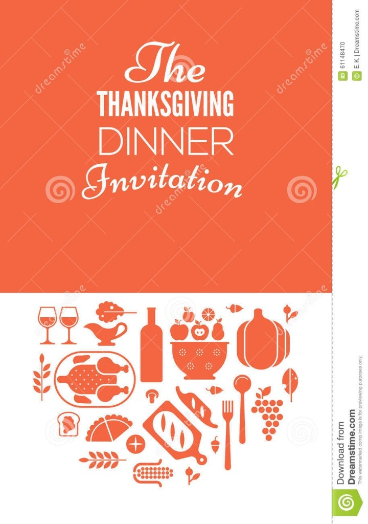 thanksgiving invitation vector illustration