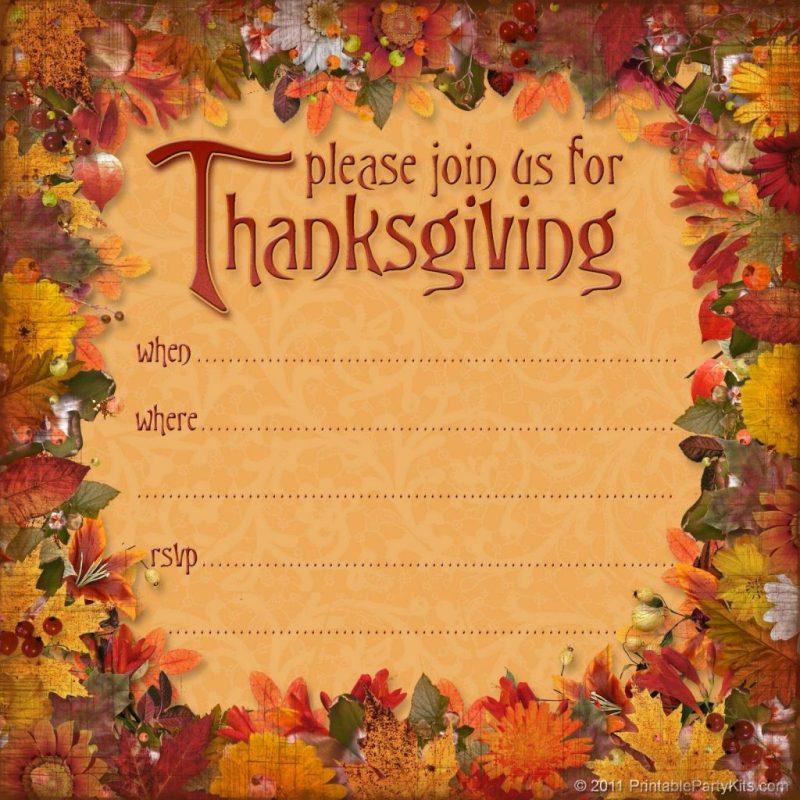 thanksgiving invitations background