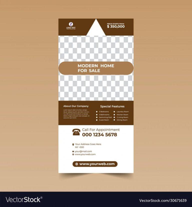 brown rack card design example