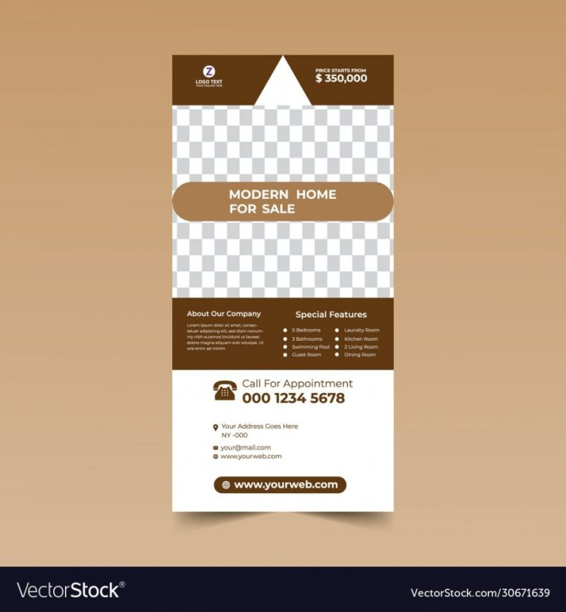 brown rack card design example