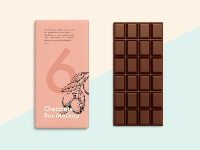 chocolate bar mockups designs