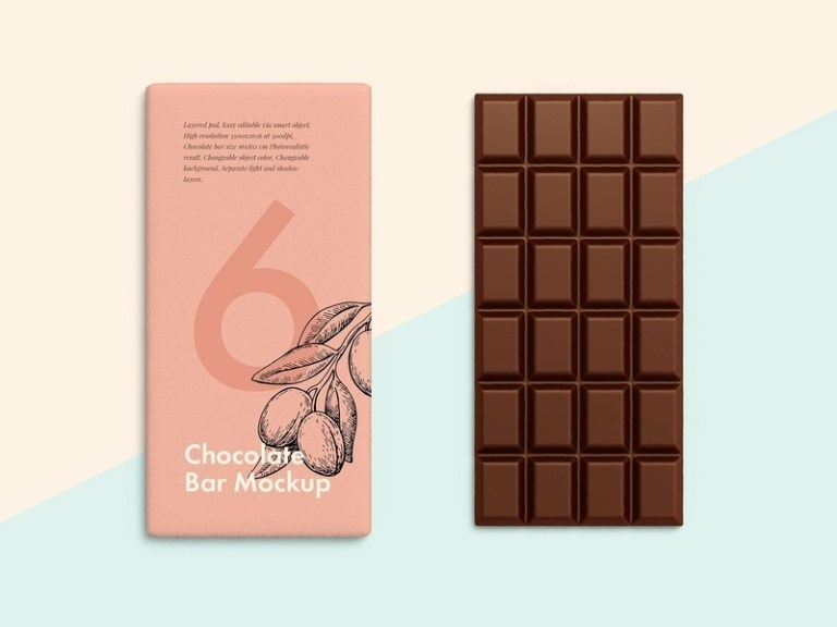 chocolate bar mockups designs