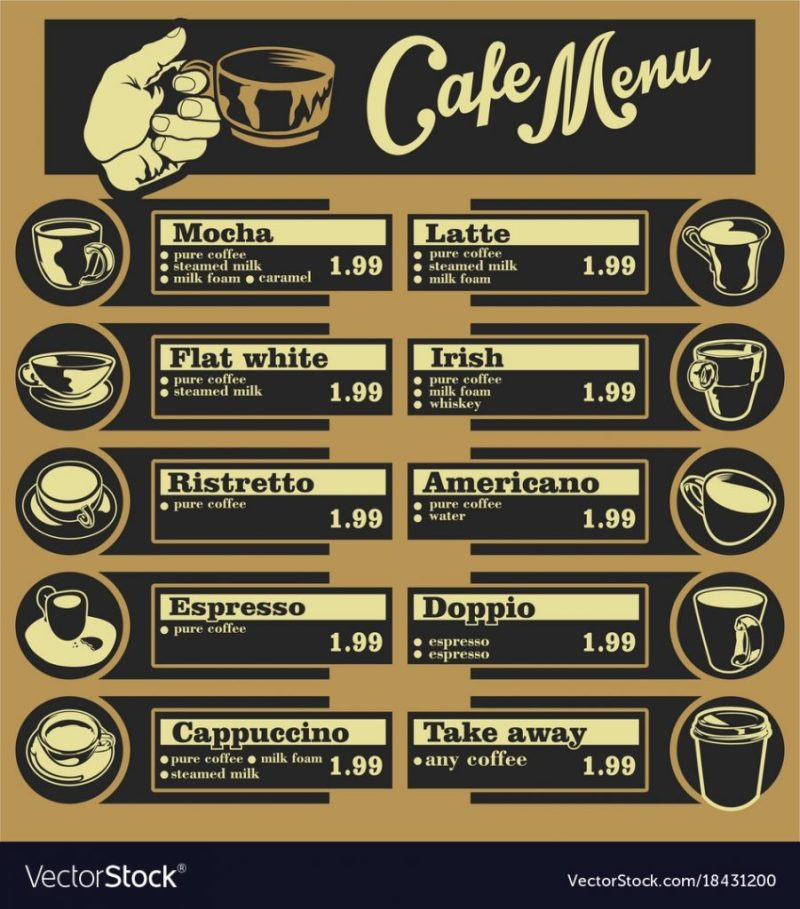 coffee menus