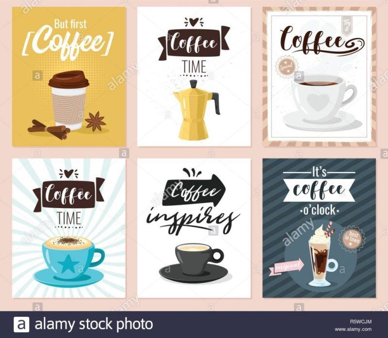 coffee shop poster wall design