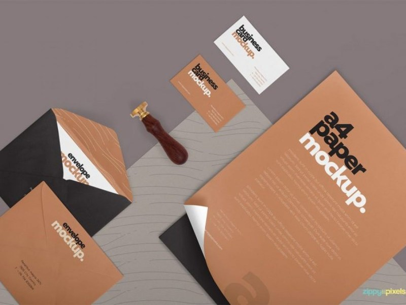 corporate stationary mock up psd