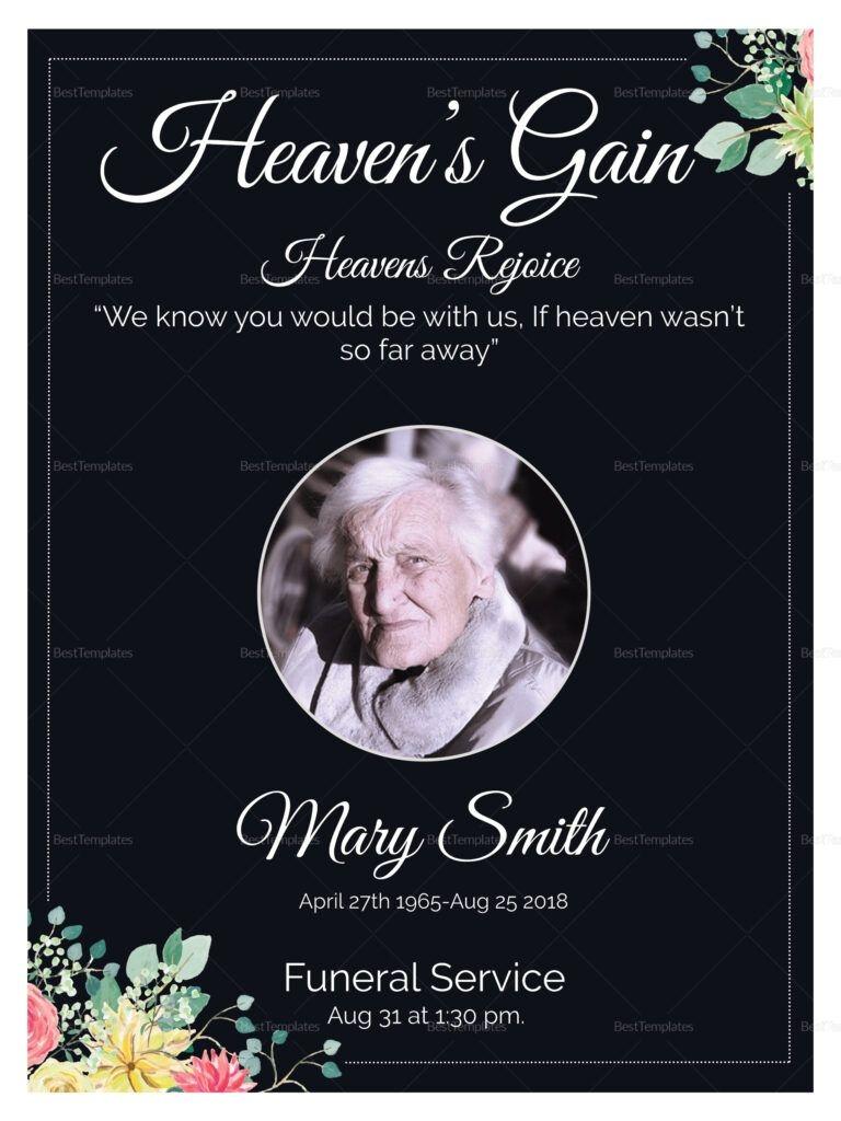 eulogy funeral invitation design