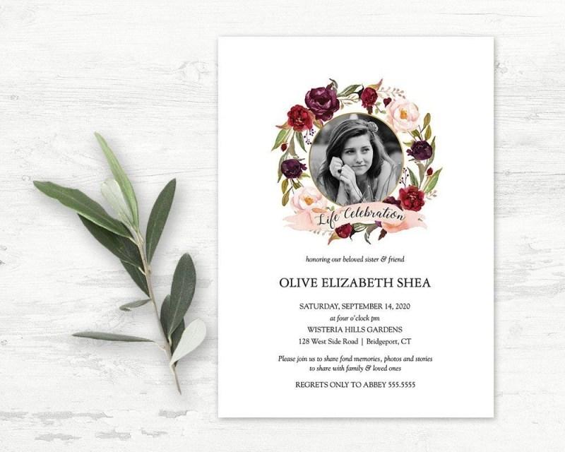 free printable memorial cards