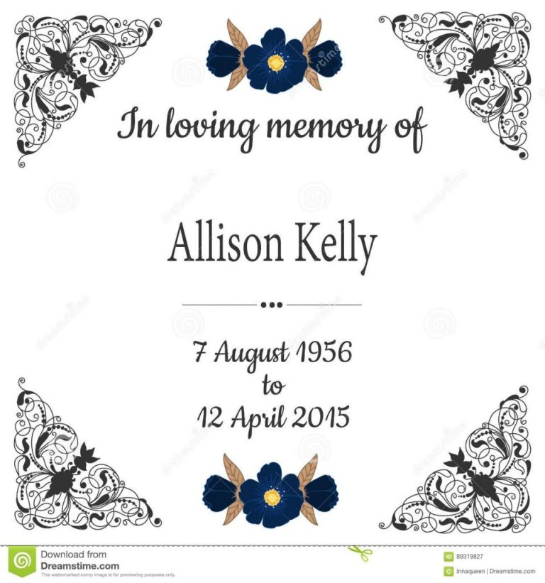 in loving memory funeral background